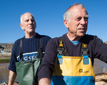 Conwy mussel fishermen